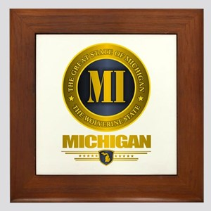 Michigan Gold Framed Tile