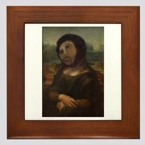 restored Mona Lisa Framed Tile
