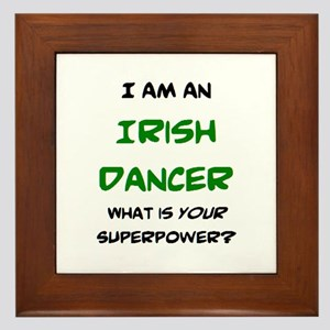 irish dancer Framed Tile