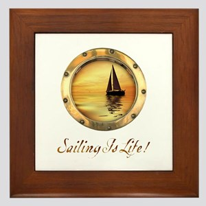 Sailing is Life 1 Framed Tile