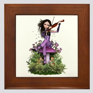 Amethyst Fairy ~ Summer Melody Framed Tile
