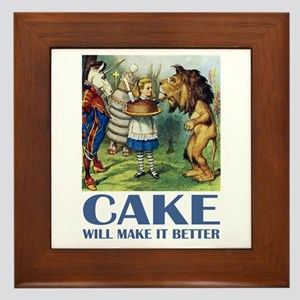 CAKE WILL MAKE IT BETTER Framed Tile