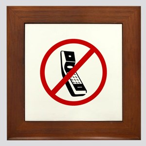 Anti Cell Phones Framed Tile
