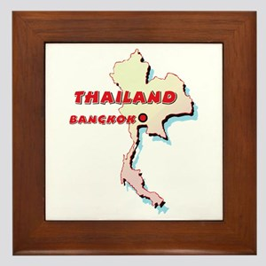 Thailand Map Framed Tile