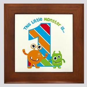 Little Monster 1st Birthday Framed Tile