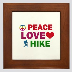Peace Love Hike Designs Framed Tile