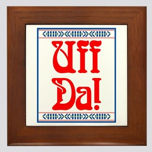 Uff Da Framed Tile