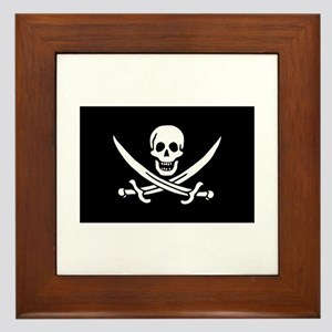 Framed Pirate Tile - Calico Jack Rackham Flag