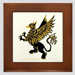 Gryphon Black Gold Framed Tile