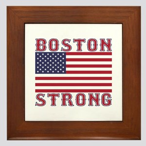 BOSTON STRONG U.S. Flag Framed Tile
