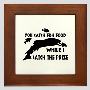 You Catch Fish Food Framed Tile