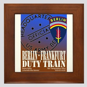 The Berlin to Frankfurt Duty Framed Tile