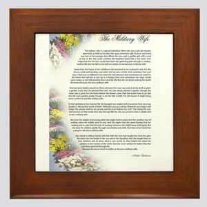 military wife poem Framed Tile