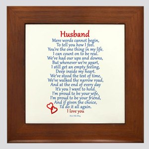 Husband Love Framed Tile
