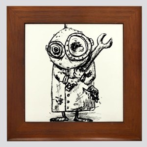 Gribble - the best little scientist Framed Tile