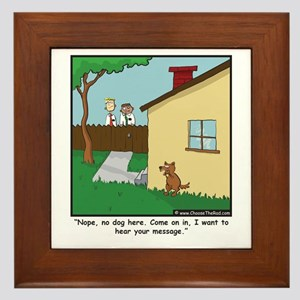 Dog Trap Framed Tile