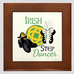 IRISH STEP Dancer Framed Tile