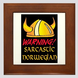 SARCASTIC NORWEGIAN! Framed Tile