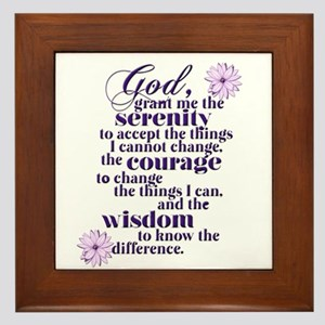 Serenity Prayer Framed Tile