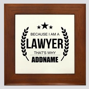 Lawyer Gifts Personalized Framed Tile
