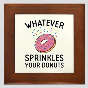 Sprinkles Your Donuts Framed Tile