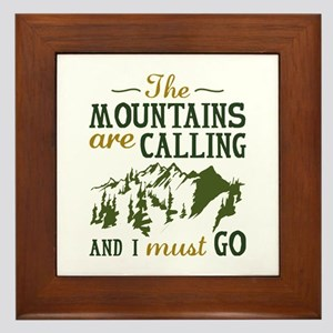 The Mountains Are Calling Framed Tile
