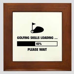 Golfing Skills Loading Framed Tile
