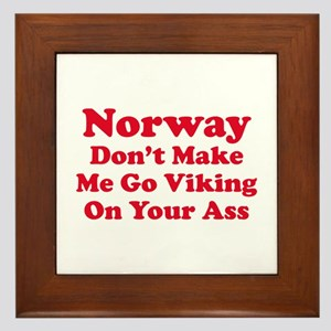 Norway Viking Framed Tile