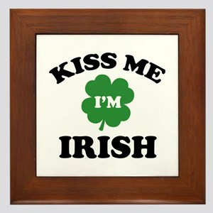 Kiss Me I'm Irish Framed Tile
