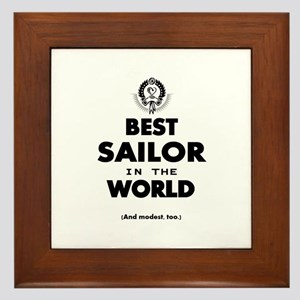 The Best in the World – Sailor Framed Tile