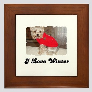 I LOVE WINTER Framed Tile