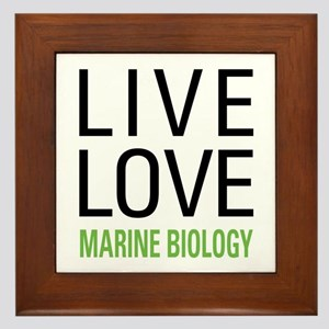 Marine Biology Framed Tile