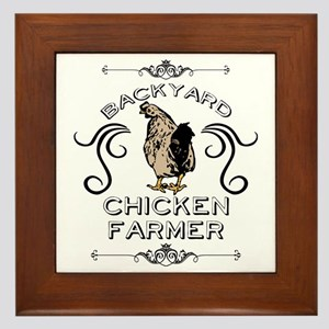 Backyard Chicken Farmer Framed Tile