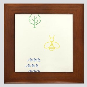 Plant Some Trees - Save The Bees - Cle Framed Tile