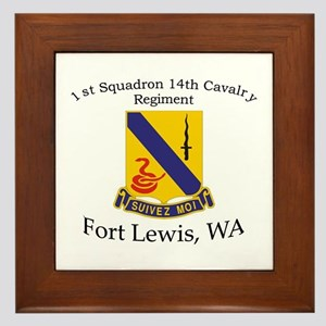1st Squadron 14th Cavalry Framed Tile