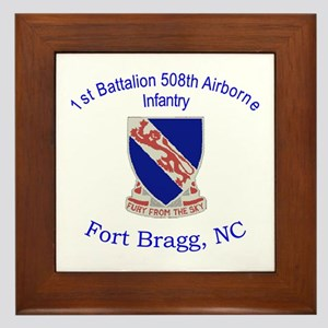 1st Bn 508th ABN Framed Tile