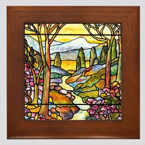 Tiffany Landscape Window Framed Tile