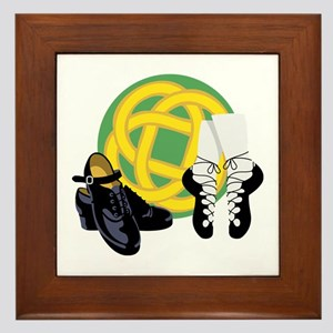 Celtic Knot Irish Shoes Framed Tile