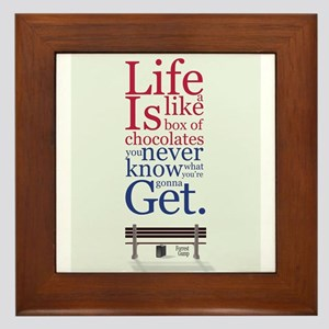 Forrest Gump Box Of Choclates Movie Ty Framed Tile