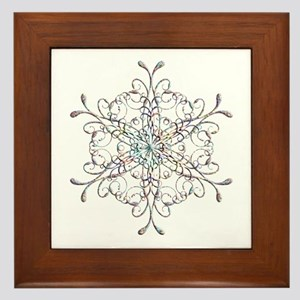 Iridescent Snowflake Framed Tile