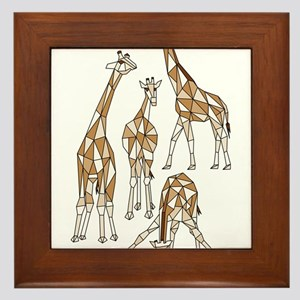 Geometric Kangaroo Framed Tile