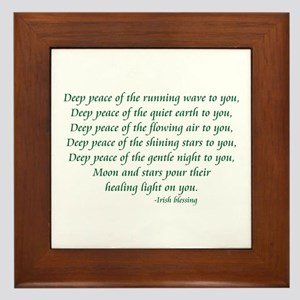 Deep Peace Framed Tile