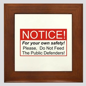 Notice / Defender Framed Tile