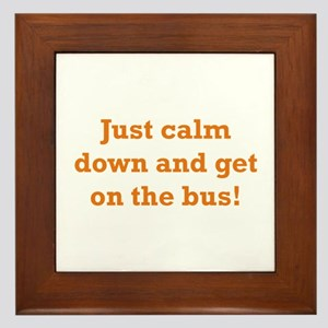 Get on the Bus Framed Tile
