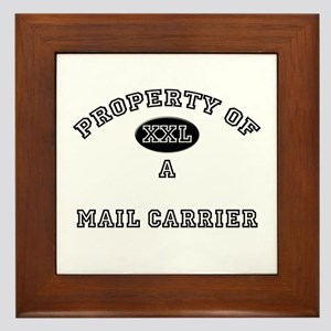 Property of a Mail Carrier Framed Tile