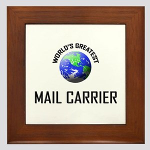 World's Greatest MAIL CARRIER Framed Tile