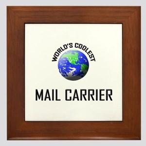 World's Coolest MAIL CARRIER Framed Tile