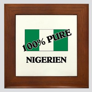 100 Percent NIGERIEN Framed Tile
