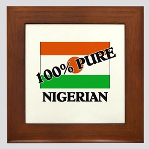 100 Percent NIGERIAN Framed Tile