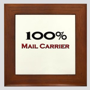 100 Percent Mail Carrier Framed Tile